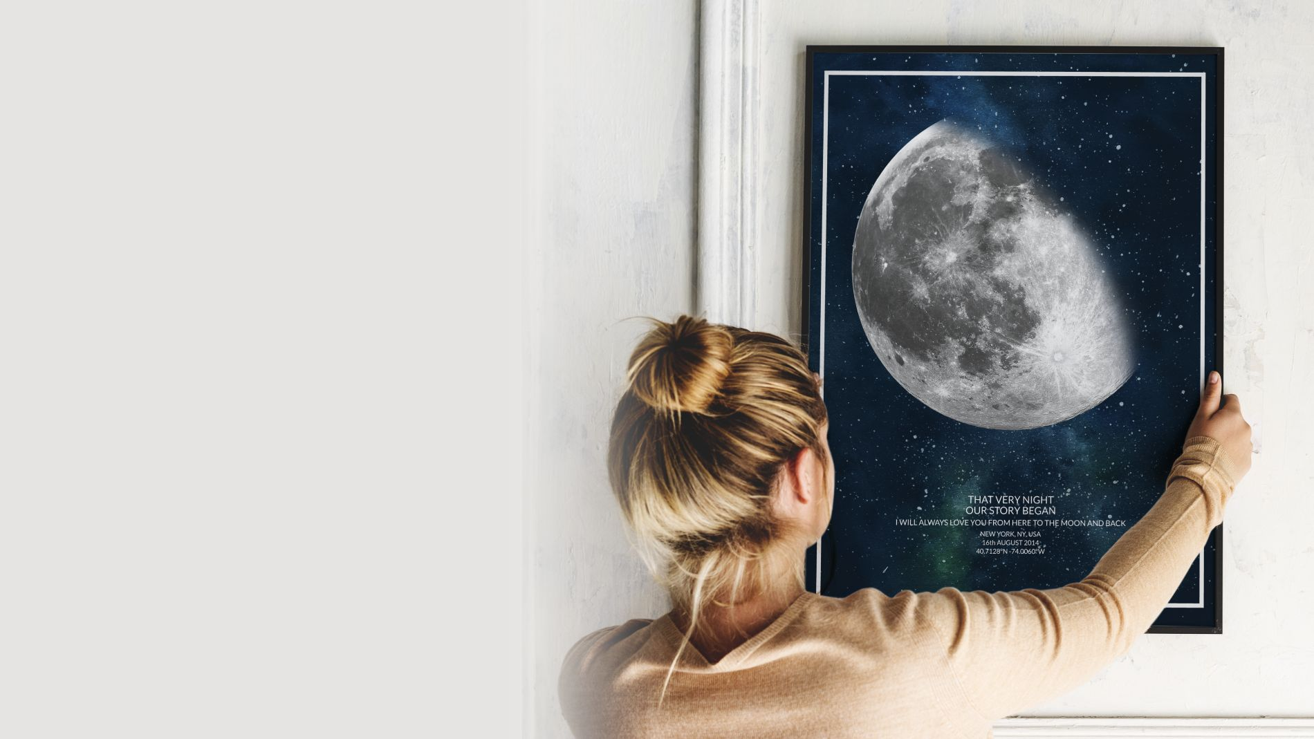 THAT VERY NIGHT Custom Moon Phase Print Poster | Buy Online
