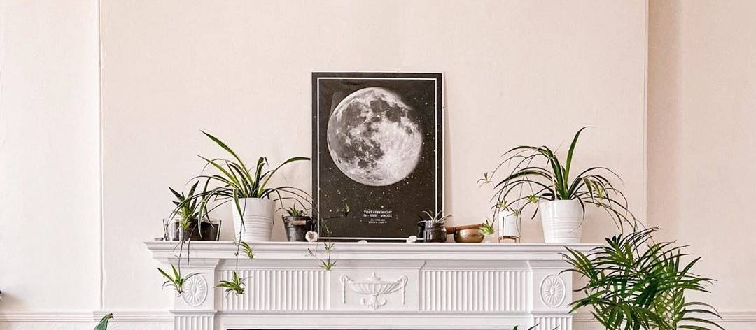 personalized moon print