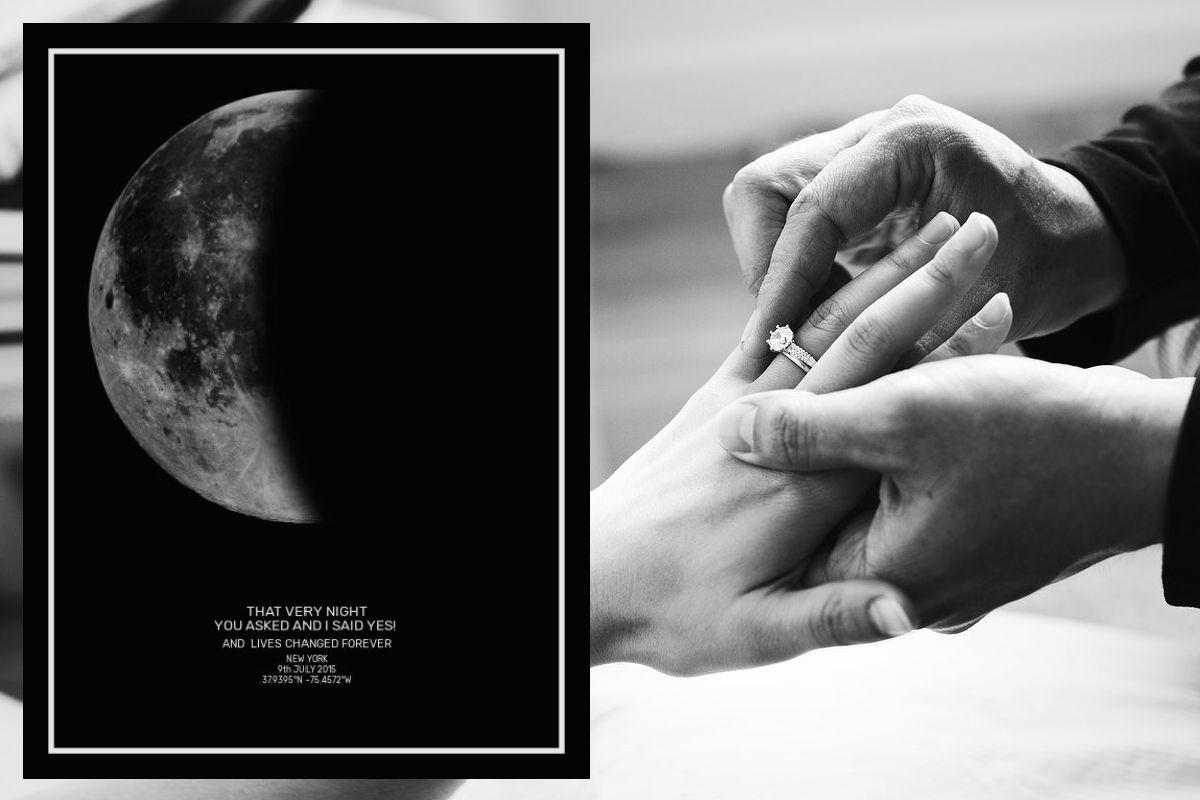 Engagement - Moon Print