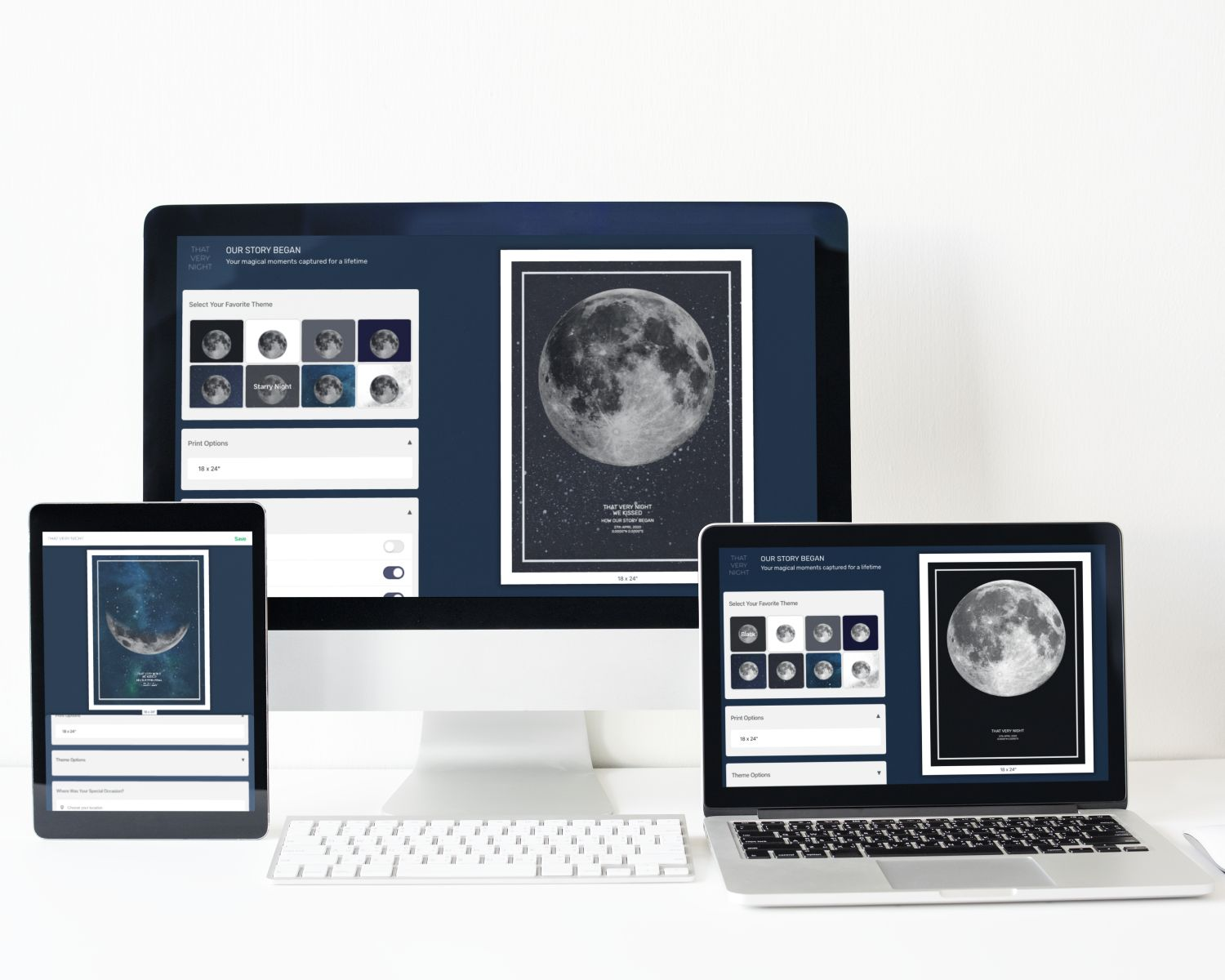 Personalize your moon print