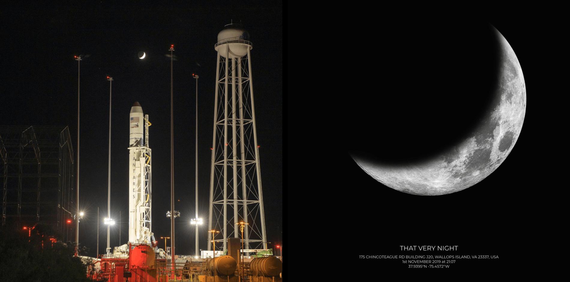 NASA's Wallops Flight Facility in Wallops Island on Friday, Nov. 1, 2019 moon phase