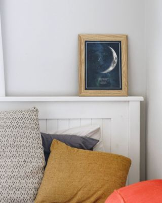 Less is More...#thatverynight #thatverynightstudio #lessismore #livingroomdecor #moonprint #moonphaseprint #moonphase